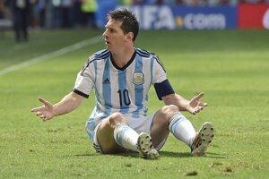 Lionel Messi počas zápasu s Belgickom.