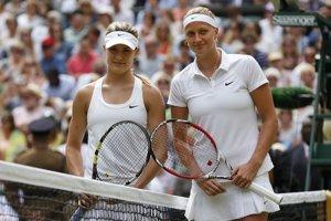 Eugenie Bouchardová a Petra Kvitová pred finále.