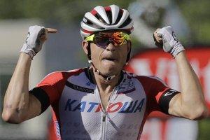 Radosť Alexandra Kristoffa z etapového víťazstva.
