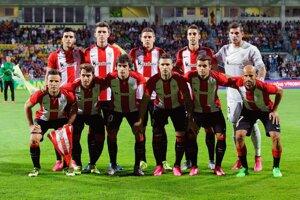 Tím Athletic Bilbao pózuje pred začiatkom stretnutia v Žiline.