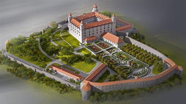 Takto by mal Bratislavský hrad vyzerať po rekonštrukcii.