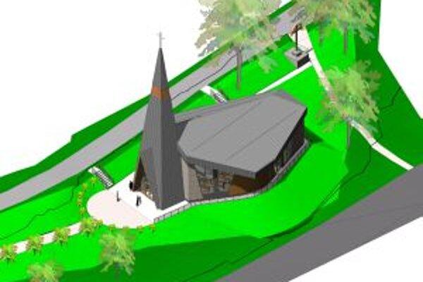 V obci majú k dispozícii vizualizáciu nového kostola.