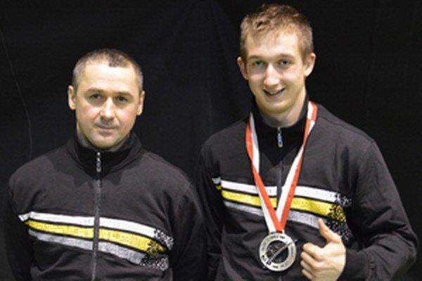 Kristián Michalec so svojím otcom a trénerom v jednej osobe Petrom Michalcom.
