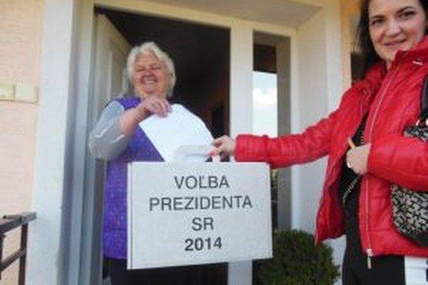 Pani Mária Ježíková má 84-rokov, zatiaľ nevynechala žiadne voľby.