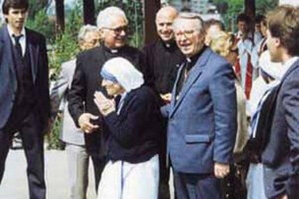 Matka Tereza prišla 14. mája 1990 do Čadce.
