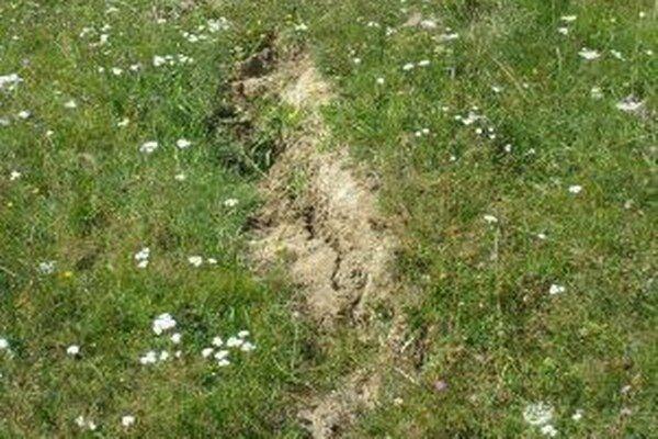 V Rudinke vlani zaznamenali zosuv pôdy. V súčasnosti sa na ňom  neprejavujú známky aktivity.