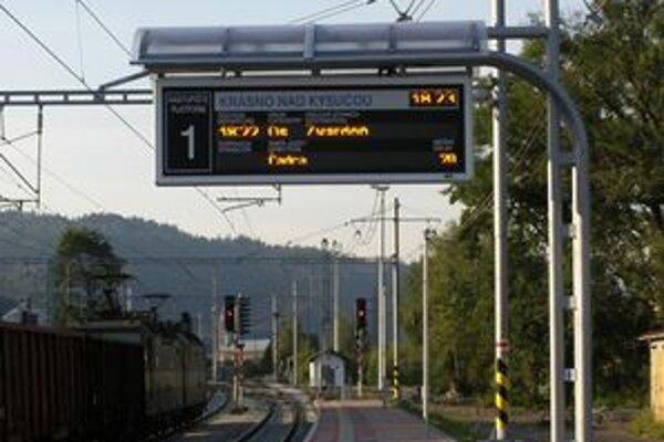 Do krásňanskej železničnej stanice pribudol aj nový informačný systém - svetelný aj zvukový.