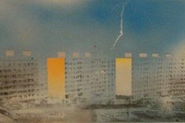 Jeden z obrazov Rastislava Sedlačíka.