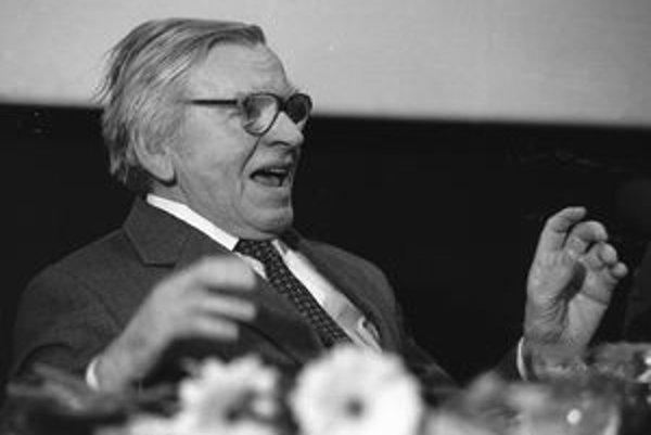 Jozef Kroner na archívnej snímke zo 16. marca 1994.