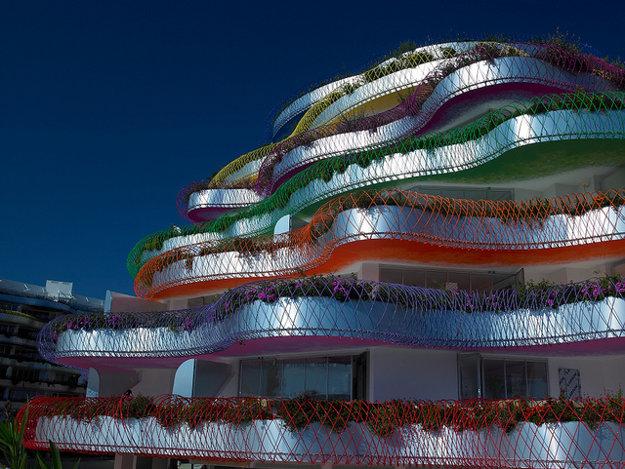 Jeden z luxusných terasových domov na Ibize.