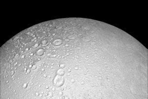 Severný pól Saturnovho mesiaca Enceladus.
