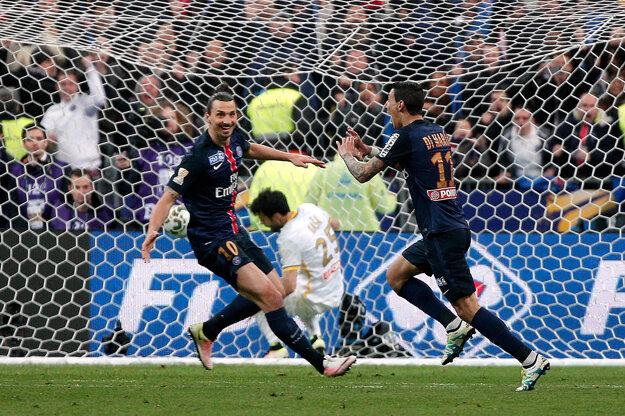Víťazný gól zápasu dal Angel Di Maria (vpravo).