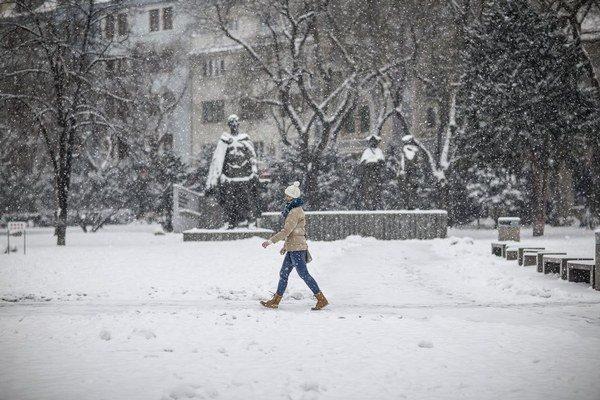 Zima v Bratislave.