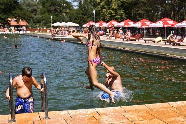 Kúpalisko s bio bazénom Borovica v Plaveckom Štvrtku.