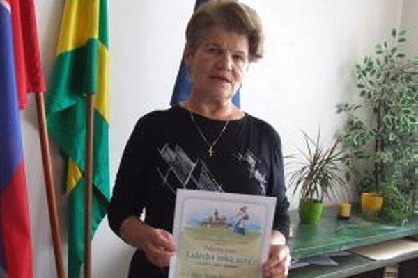 Anna Majerská. Vyhnianska aktivistka s titulom Vidiecka žena v rámci súťaže Líderka roka 2013.