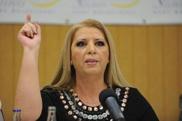 Mojsejová sa uchádzala o miesto v parlamente so svojou Stranou slobodného slova.