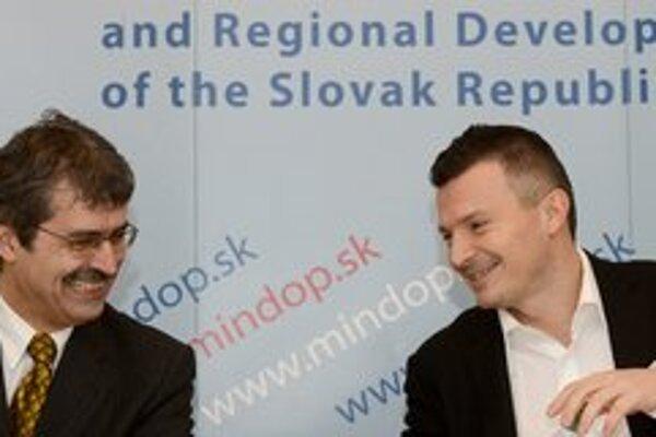Milan Ftáčnik a minister dopravy Ján Počiatek (Smer)