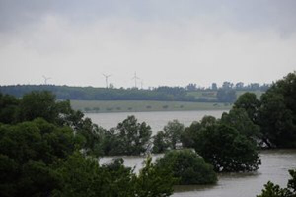 Vysoká voda v Devíne.