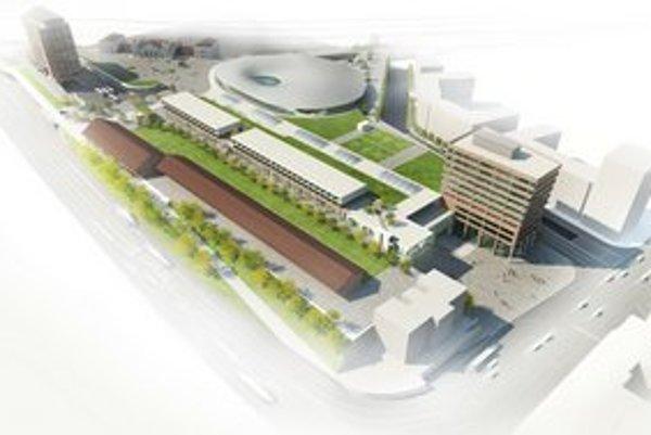 Predstaničné námestie. Výškový hotel pri staničnej hale zatiaľ stavať neplánujú.