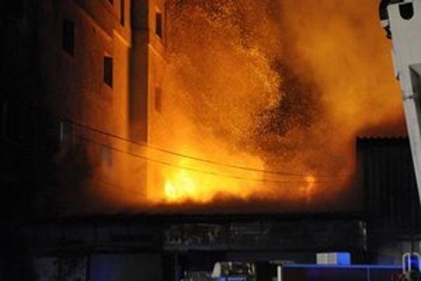 Požiar na Starej Vajnorskej ulici.