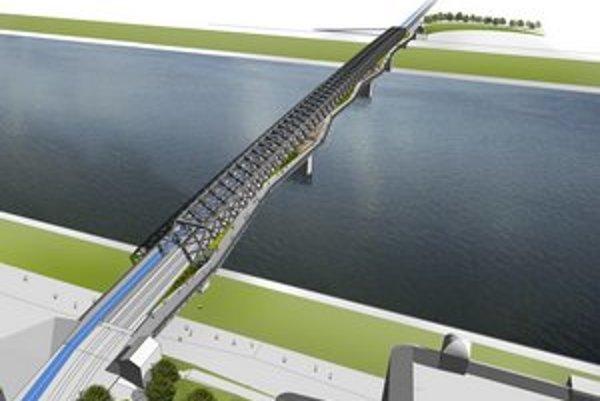 Návrh architektov pod vedením Igora Marka, cyklisti mali mať samostatný pruh.