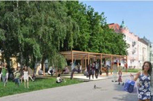 Letný pavilón chcú postaviť tento týždeň.