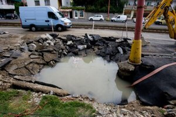 Potrubie prasklo koncom júla.