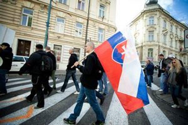 Pochod smeroval cez centrum mesta.