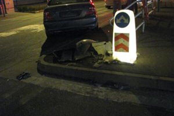 Záber z nehody.