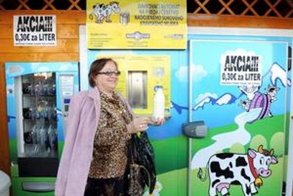 Mliečny automat je napríklad aj v Trenčíne.