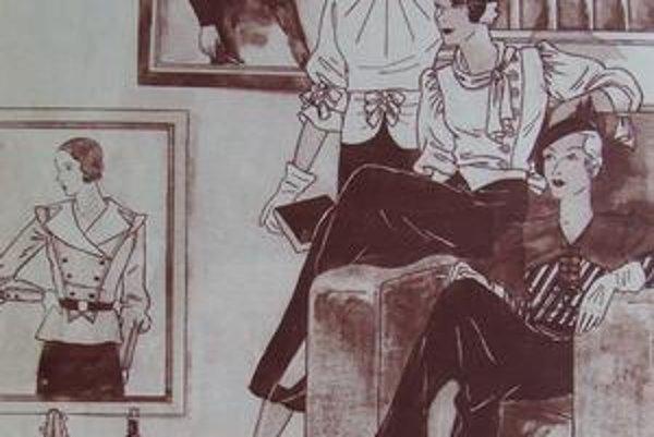 Módne návrhy Magdy Radványiovej z roku 1932.