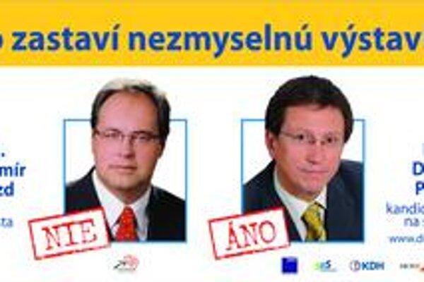 Súčasnému ružinovskému starostovi prekážajú bilbordy jeho protikandidáta so spoločnými fotografiami.