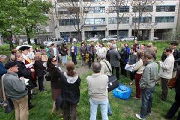 Proti likvidácii parčíka na Belopotockého bol protest aj petícia. Magistrát sa petíciou zrejme nezaoberal.