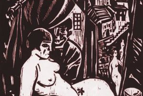 Imro Weiner-Kráľ: Vydrica, drevoryt, 1937.