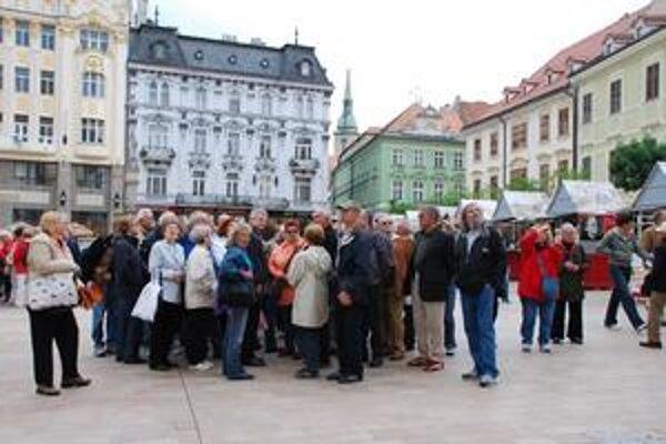 O prehliadky mesta je stále záujem. V tomto roku je novinkou takzvaná art tour – umelecká prehliadka.