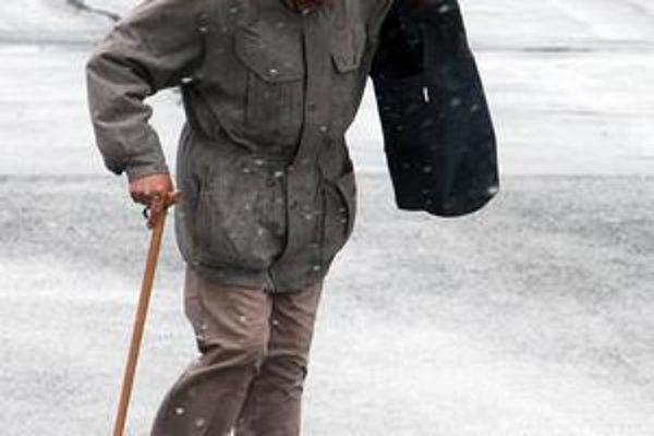 Včera v meste striedavo pršalo a snežilo. Medzi prvými býva zasnežená Dúbravka, kde by dodávateľ mal podľa zmluvy zasiahnuť hneď, ako nasneží.