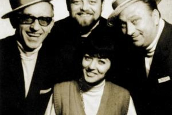 Na snímke hore Michal Belák, Zdeno Sychra, Nora Blahová, Jozef Hanúsek.