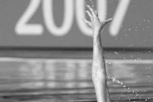 Mária Dzureková počas súťaže majstrovstiev sveta v Melbourne.