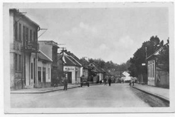 Stará Petržalka s prízemnými domčekmi.