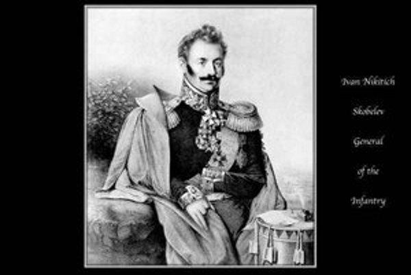 M. D. Skobelev (1843 – 1882) vodca ruských vojsk v protitureckej vojne.