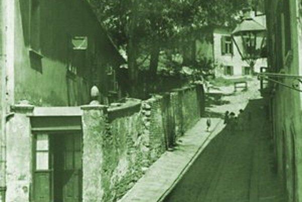 Šťuková ulica okolo roku 1960.