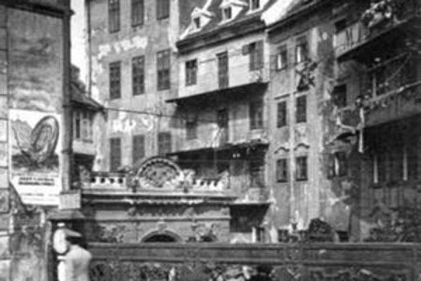 Michalská priekopa v roku 1910.