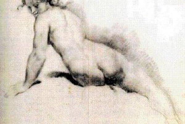 P. Pagani: Sediaci ženský akt.