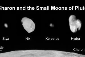 Rodinný portrét Plutových mesiacov.