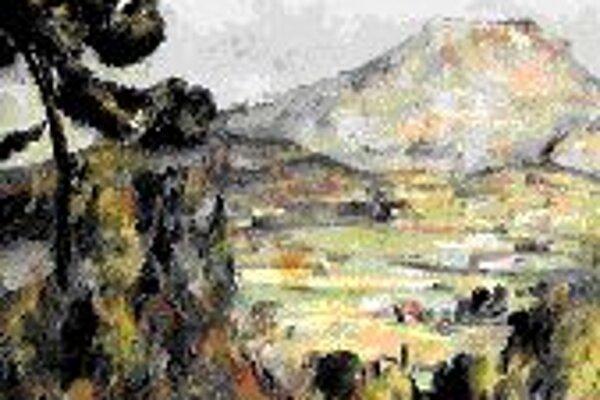 Jedna zo Cézannových olejomalieb vrchu Sainte-Victoire zo začiatku 20. storočia. Obraz bude na novej októbrovej výstave.