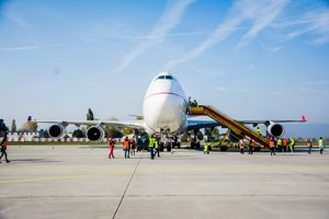 Boeing 747-400SF (tzv. Jumbo) Slovenskej leteckej spoločnosti Air Cargo Global.