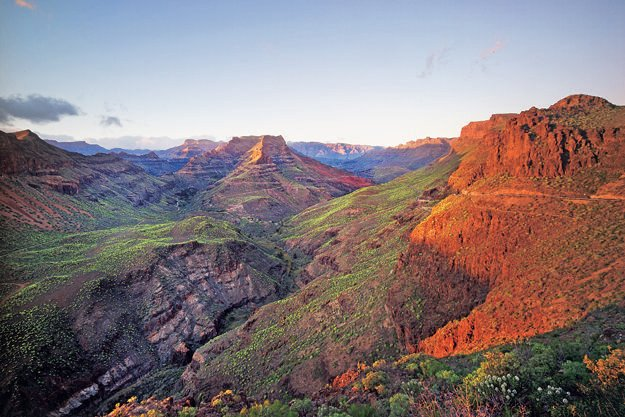 Rozmanité prírodné prostredie Gran Canarie