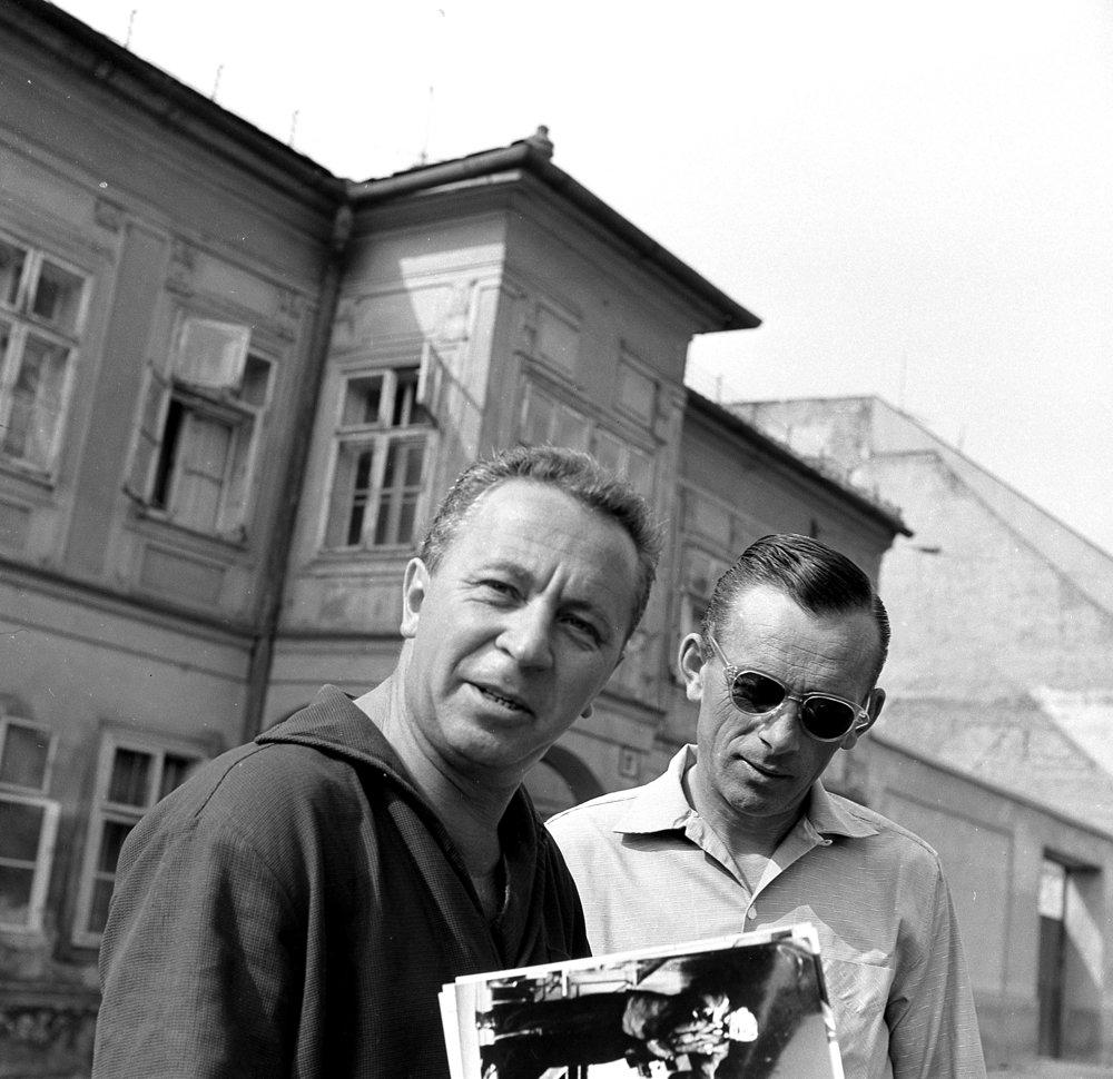 Herec Miroslav Horníček v Bratislave, 22.7.1963.