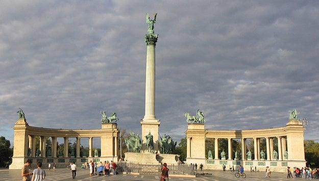 Námestie hrdinov v Budapešti.