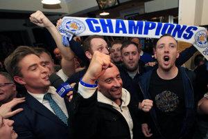 V Leicesteri po zisku titulu vypukli veľké oslavy.